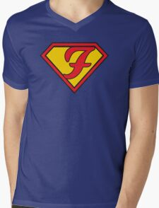 Super F Mens V-Neck T-Shirt