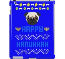 Pugly Hanukkah Ugly Christmas Sweater Style iPad Case/Skin