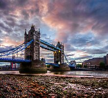 Tower Bridge Sunset. by OsmalleyPhoto