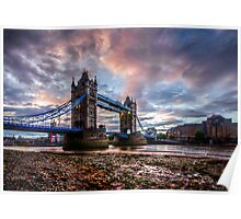 Tower Bridge Sunset. Poster