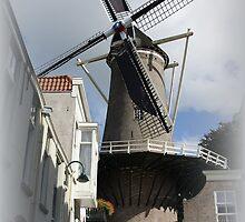 Mill 't Slot to the IJssel in Gouda. by hanslittel