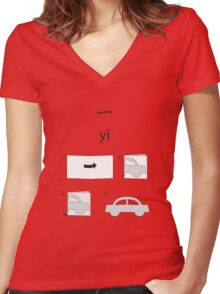 One Women's Fitted V-Neck T-Shirt