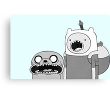 Adventure Time - Finn & Jake WTF Canvas Print