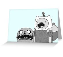 Adventure Time - Finn & Jake WTF Greeting Card