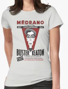 Buster Keaton in Paris Womens Fitted T-Shirt