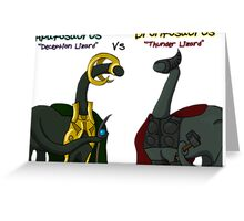 Loki vs Thor Dino Style Greeting Card