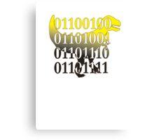 dino binary code t-rex design Canvas Print