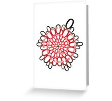 flowerpower red number flower design Greeting Card