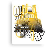 Bulldozer binary code machine design Canvas Print