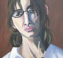 Self Portrait in Oil by littlemarin