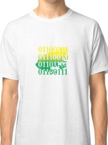 frog binary code reptile design Classic T-Shirt