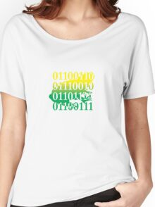 frog binary code reptile design Women's Relaxed Fit T-Shirt