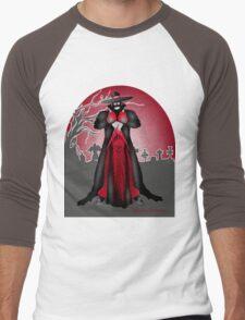 Dark Caped Mortuary Slasher T-shirt Men's Baseball ¾ T-Shirt