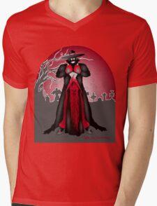 Dark Caped Mortuary Slasher T-shirt Mens V-Neck T-Shirt