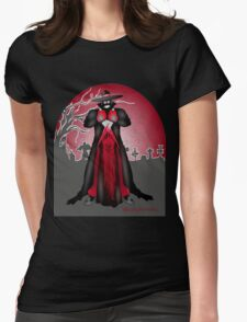 Dark Caped Mortuary Slasher T-shirt Womens Fitted T-Shirt