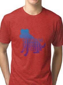 dog binary code jack russell design Tri-blend T-Shirt