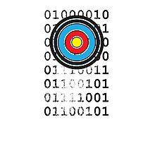 Bullseye archery target design Photographic Print