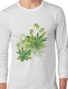 meadow flower yellow primrose design Long Sleeve T-Shirt