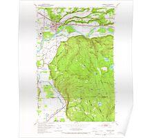 USGS Topo Map Washington State WA Monroe 242369 1953 24000 Poster