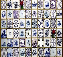 Dutch Delft blue with tullips by Happiness         Desiree