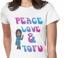 Peace Love and Tofu Womens Fitted T-Shirt