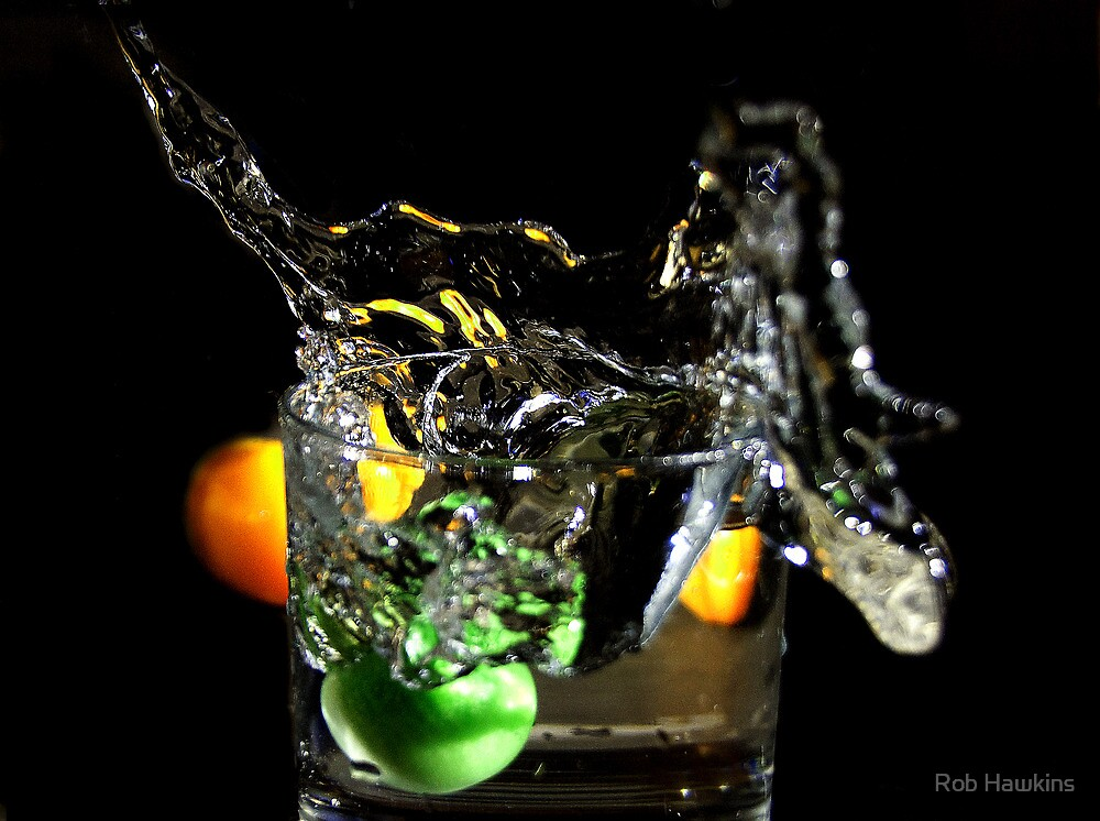 a splash in the glass  by Rob Hawkins
