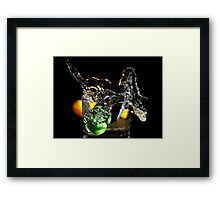 a splash in the glass  Framed Print