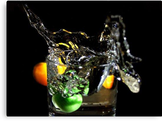 a splash in the glass  by Rob Hawkins