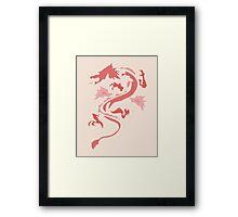 Fire Breathing Dragon - pink Framed Print