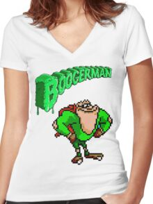 Boogerman Women's Fitted V-Neck T-Shirt