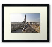 Cannon & Cathedral, Caen, France, Europe 2012 Framed Print