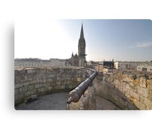 Cannon & Cathedral, Caen, France, Europe 2012 Canvas Print