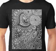 Floral Doodle Print Unisex T-Shirt