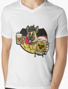 Oktoberfest German Beer Hound Mens V-Neck T-Shirt