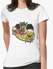 Oktoberfest German Beer Hound Womens Fitted T-Shirt