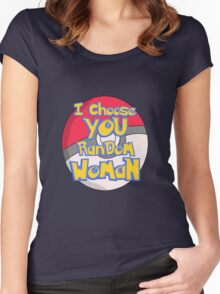 Random Woman Pokeball Women's Fitted Scoop T-Shirt