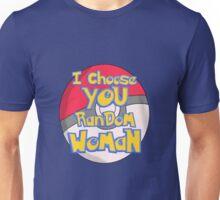 Random Woman Pokeball Unisex T-Shirt