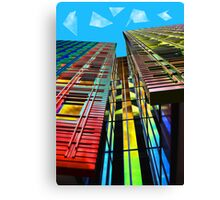 Colors in the City (with clouds) Canvas Print