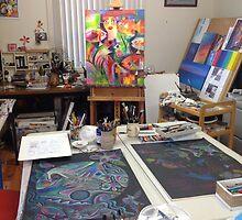 My studio - yesterday by Karin Zeller