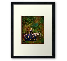 The Blue Knight  Framed Print