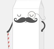 sir milk moustache by kimvervuurt
