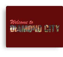 Welcome to Diamond City - Typographic Canvas Print