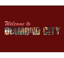 Welcome to Diamond City - Typographic Photographic Print