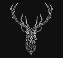 White Christmas Modern Geometric Deer  T-Shirt