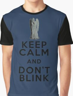 Keep Calm and Don't Blink - Weeping Angels - Doctor Who Graphic T-Shirt