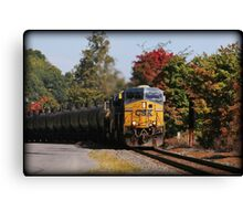 Highland Autumn Rail Canvas Print