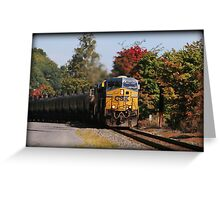 Highland Autumn Rail Greeting Card