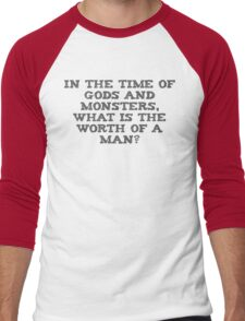 The Worth Of A Man Men's Baseball ¾ T-Shirt