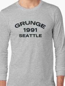 Grunge 1991 Seattle Long Sleeve T-Shirt