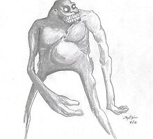 Bigfoot Creature by sketchingbrad